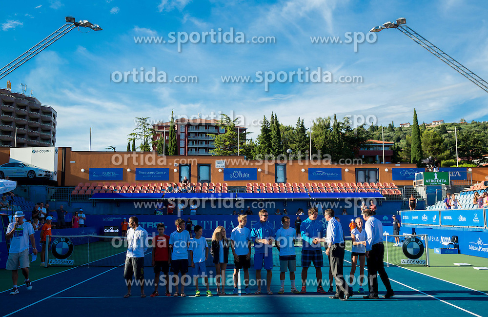 Borut Pahor, president of Slovenia with young Slovenian players during Day 5 of ATP Challenger Tilia Slovenia Open 2014 on July 11, 2014 in Tennis stadium SRC Marina, Portoroz / Portorose, Slovenia. Photo by Vid Ponikvar / Sportida