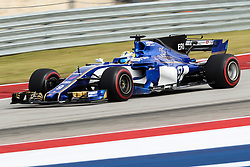 October 20, 2017 - Austin, Texas, U.S - Sauber driver Marcus Ericsson (9) of Sweden in action before the Formula 1 United States Grand Prix race at the Circuit of the Americas race track in Austin,Texas. (Credit Image: © Dan Wozniak via ZUMA Wire)