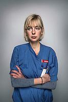 """2014-10-17 Stockholm. Märit Halmin, läkare, Danderyds sjukhus. Grundare av """"läkaruppropet"""". Foto: Markus Marcetic"""