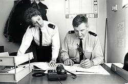 Radford police station, Nottingham UK 1989