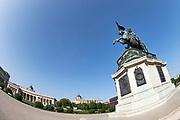 Vienna, Austria. Vienna seen through a fisheye lens. Heldenplatz-
