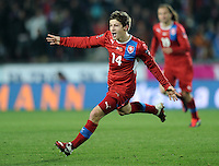 Fussball International, Nationalmannschaft   EURO 2012 Play Off, Qualifikation, Tschechische Republik - Montenegro        11.11.2011 JUBEL nach dem TOR zum 1:0  Vaclav Pilar (Tschechische Republik)