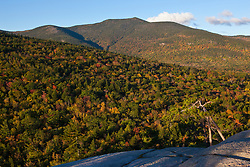 North Moat Mountain as seen from Cathedral Ledge in New Hampshire's White Mountains. Echo Lake State Park, North Conway.