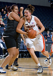 Virginia Cavaliers F Kelly Hartig (42)..The Virginia Cavaliers women's basketball team faced Team Concept in an exhibition basketball game at the John Paul Jones Arena in Charlottesville, VA on November 5, 2007.