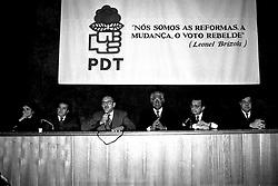 Dilma Rousseff durante a posse do Deputado Carlos Araújo, na presidência do PDT, em 05/07/1994. FOTO: Sérgio Néglia/Preview.com