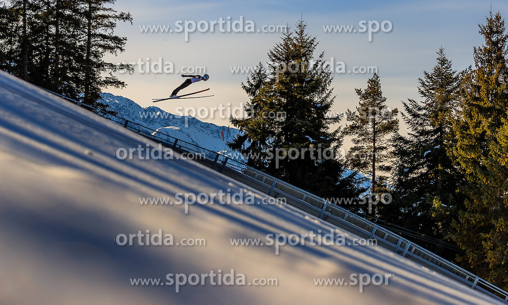 28.01.2017, Casino Arena, Seefeld, AUT, FIS Weltcup Nordische Kombination, Seefeld Triple, Skisprung, im Bild Lukas Klapfer (AUT) // Lukas Klapfer of Austria in action during his Trail Jump of Skijumping of the FIS Nordic Combined World Cup Seefeld Triple at the Casino Arena in Seefeld, Austria on 2017/01/28. EXPA Pictures © 2017, PhotoCredit: EXPA/ JFK