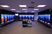AFC Wimbledon changing room during the The FA Cup 3rd round match between Tottenham Hotspur and AFC Wimbledon at Wembley Stadium, London, England on 7 January 2018. Photo by Matthew Redman.