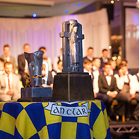 Both Cups on display during the Clare U21 Hurling Final Winners Medal presentation in West county Hotel on Saturday 06 Dec