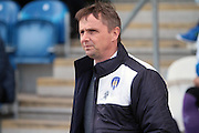 Colchester manager Kevin Keen before the Sky Bet League 1 match between Colchester United and Burton Albion at the Weston Homes Community Stadium, Colchester, England on 23 April 2016. Photo by Nigel Cole.