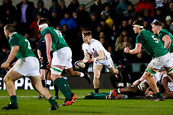 Blake Boyland of England U20 in action - Rogan/JMP - 21/02/2020 - Franklin's Gardens - Northampton, England - England U20 v Ireland U20 - Under 20 Six Nations.