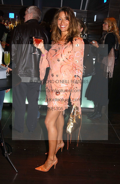 REBECCA LOOS at a party to celebrate the opening of the Absolut Icebar London, 134 Heddon Street, London on 29th September 2005.<br /><br />NON EXCLUSIVE - WORLD RIGHTS