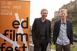 2016 Edinburgh International Film Festival, Alex Kapranos (Musician) and Niall McCann (Director) during the WORLD PREMIERE (DOCUMENTARY) LOST IN FRANCE, The Apex Hotel Grassmarket, Edinburgh16th June 2016, (c) Brian Anderson | Edinburgh Elite media