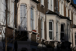 UK ENGLAND LONDON 27FEB15 - Terrace of Victorian housing on Portnall Road near  Queens Park, west London.<br /> <br /> <br /> <br /> jre/Photo by Jiri Rezac<br /> <br /> <br /> <br /> © Jiri Rezac 2015