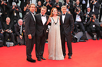Alexandre Desplat, Matt Damon, Julianne Moore and George Clooney at the premiere of the film Suburbicon at the 74th Venice Film Festival, Sala Grande on Saturday 2 September 2017, Venice Lido, Italy.