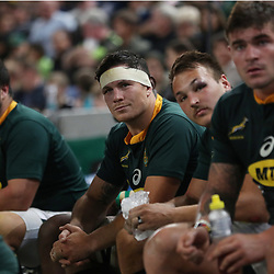 DURBAN, SOUTH AFRICA - AUGUST 18: Francois Louw of South Africa during the Rugby Championship match between South Africa and Argentina at Jonsson Kings Park on August 18, 2018 in Durban, South Africa. (Photo by Steve Haag/Gallo Images)