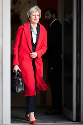 © Licensed to London News Pictures. 06/01/2019. London, UK. Prime Minister, Theresa May leaving BBC Broadcasting House in London after appearing on the Andrew Marr Show.  Photo credit: Vickie Flores/LNP