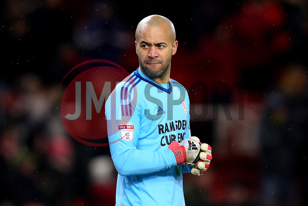 Darren Randolph of Middlesbrough - Mandatory by-line: Robbie Stephenson/JMP - 02/03/2018 - FOOTBALL - Riverside Stadium - Middlesbrough, England - Middlesbrough v Leeds United - Sky Bet Championship