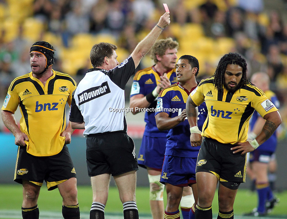 Hurricanes Ma'a Nonu is Red Carded. Super 15 - Hurricanes v Highlanders, Westpac stadium, Wellington, 18 February 2011. PHOTO: Grant Down / photosport.co.nz