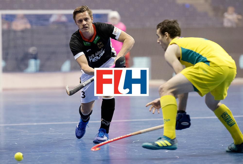 BERLIN - Indoor Hockey World Cup<br /> Men: Germany - Australia<br /> foto: Mats Grambusch.<br /> WORLDSPORTPICS COPYRIGHT FRANK UIJLENBROEK