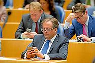 Alexander Pechtold (D66)  in de Tweede Kamer tijdens de eerste dag van de Algemene Beschouwingen in de Tweede Kamer.