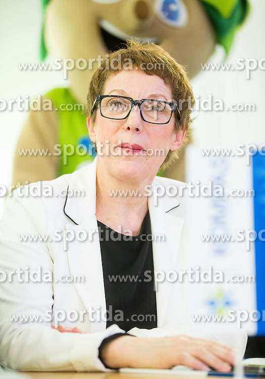 Tatjana Jurisevic, CEO of Kompas during press conference of Basketball Federation of Slovenia - KZS when signing a contract with Tourist agency Kompas for selling Eurobasket 2015 tickets, on March 2, 2015 in Ljubljana, Slovenia. Photo by Vid Ponikvar / Sportida