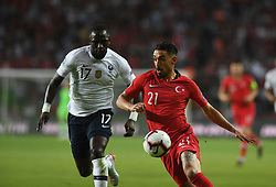 Turkey's Irfan CAn Kahveci and France's Moussa, Sissoko during Euro 2020 group H qualifying soccer match between Turkey and France at the Konya City Stadium in Konya, Turkey, June 8, 2019. Photo by Abdurrahman Antakyali/Depo Photos/ABACAPRESS.COM