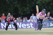 John Simpson makes 84 off 51 balls during the NatWest T20 Blast South Group match between Middlesex County Cricket Club and Somerset County Cricket Club at Uxbridge Cricket Ground, Uxbridge, United Kingdom on 26 June 2015. Photo by David Vokes.
