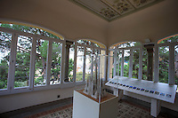 The view from the window of the former house, now a museum, of Antoni Gaudi within the walls of Park Guell in Barcelona, Spain