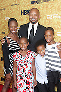 "New York, NY- October 6:  Actor Michael Boatman and Family at the HBO Premiere of "" Sing Your Song"" chronicling the life & iconic career of legendary entertainer & civil rights hero Harry Belafonte held at the Apollo Theater on October 6, 2011 in Harlem, New York City. Photo Credit: Terrence Jennings"