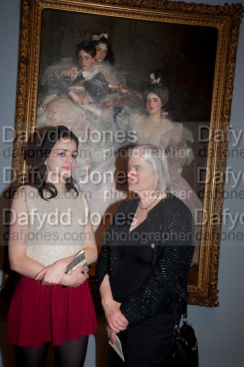 SIENNA MURDOCH; TESSA MURDOCH Mrs. Carl Meyer and her Children. John Singer Sargent  Migrations private view, Tate Britain. London. 30 January 2012.