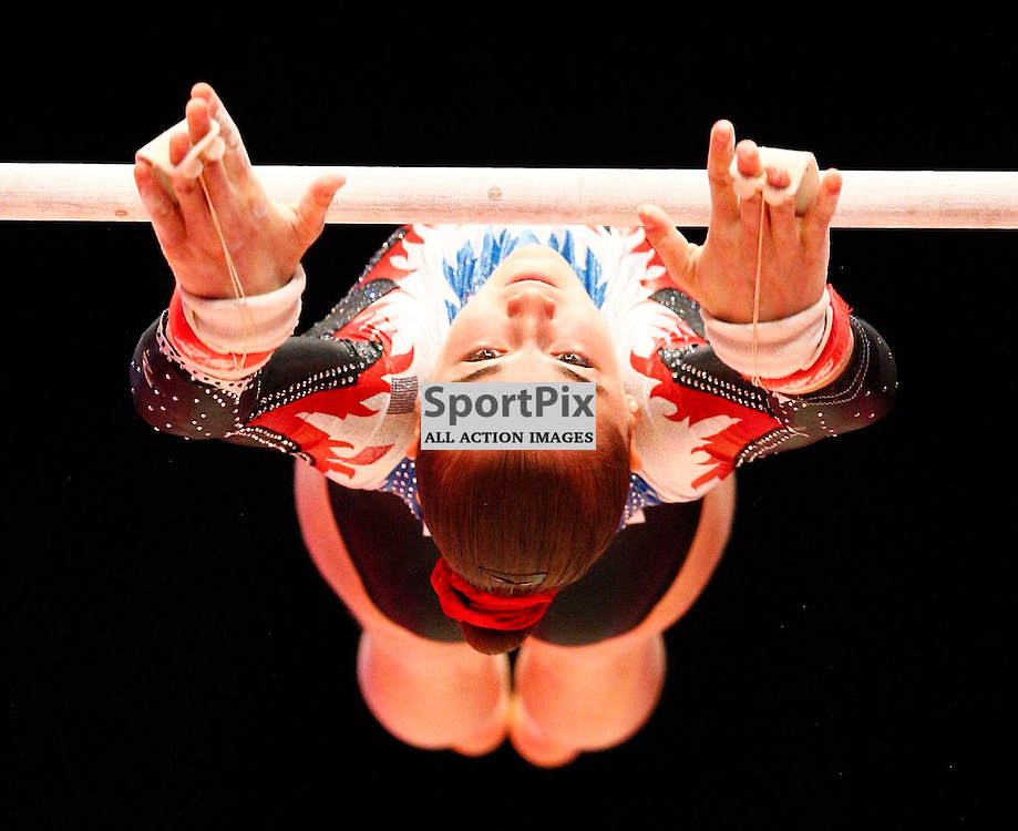 2015 Artistic Gymnastics World Championships being held in Glasgow from 23rd October to 1st November 2015..Louise Vanhille (France) competing in the Uneven Bars competition...(c) STEPHEN LAWSON | SportPix.org.uk