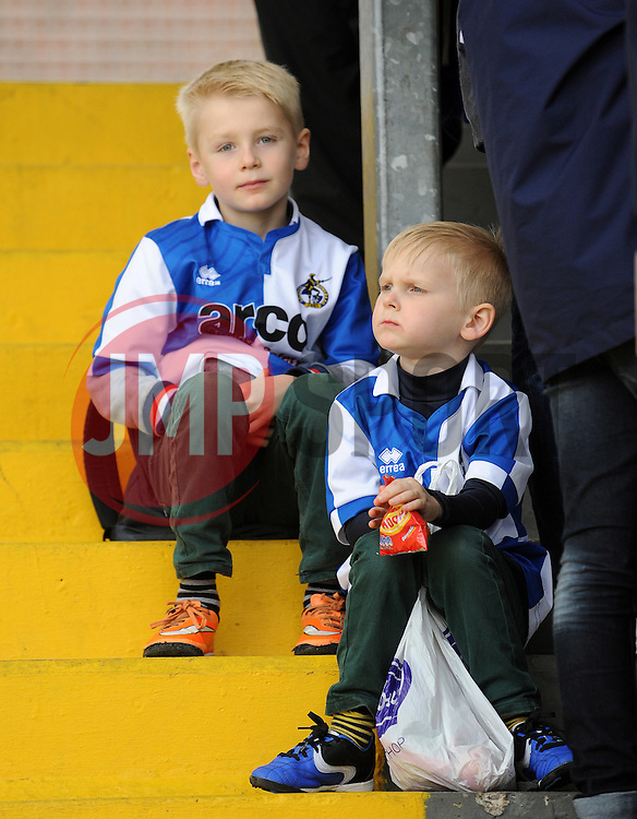 Bristol Rovers fans - Photo mandatory by-line: Neil Brookman/JMP - Mobile: 07966 386802 - 03/04/2015 - SPORT - Football - Bristol - Memorial Stadium - Bristol Rovers v Chester - Vanarama Football Conference