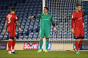 Leyton Orient goalkeeper Alex Cisak (1) during the EFL Trophy Southern Group G match between U23 Brighton and Hove Albion and Leyton Orient at the American Express Community Stadium, Brighton and Hove, England on 8 November 2016.