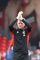 Football - 2016 / 2017 Premier League - AFC Bournemouth vs. Everton<br /> <br /> Bournemouth's Manager Eddie Howe applauds the Bournemouth fans after the final whistle at Dean Court (The Vitality Stadium) Bournemouth<br /> <br /> Colorsport/Shaun Boggust