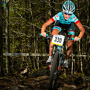 Emily Batty of Trek, winner of the women's Elite category at the Canada Cup in Mont Tremblant in Ski Mont Tremblant on May,  17 2015