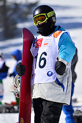 Snowboarder Cross Action, SAIRANEN Matti, FIN at the 2016 IPC Snowboard Europa Cup Finals and World Cup