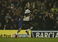 Photo: Javier Garcia/Back Page Images<br />Fulham v Manchester United, FA Barclays Premiership, Craven Cottage 13/12/04<br />Papa Boupa Diop celebrates after making it 1-1