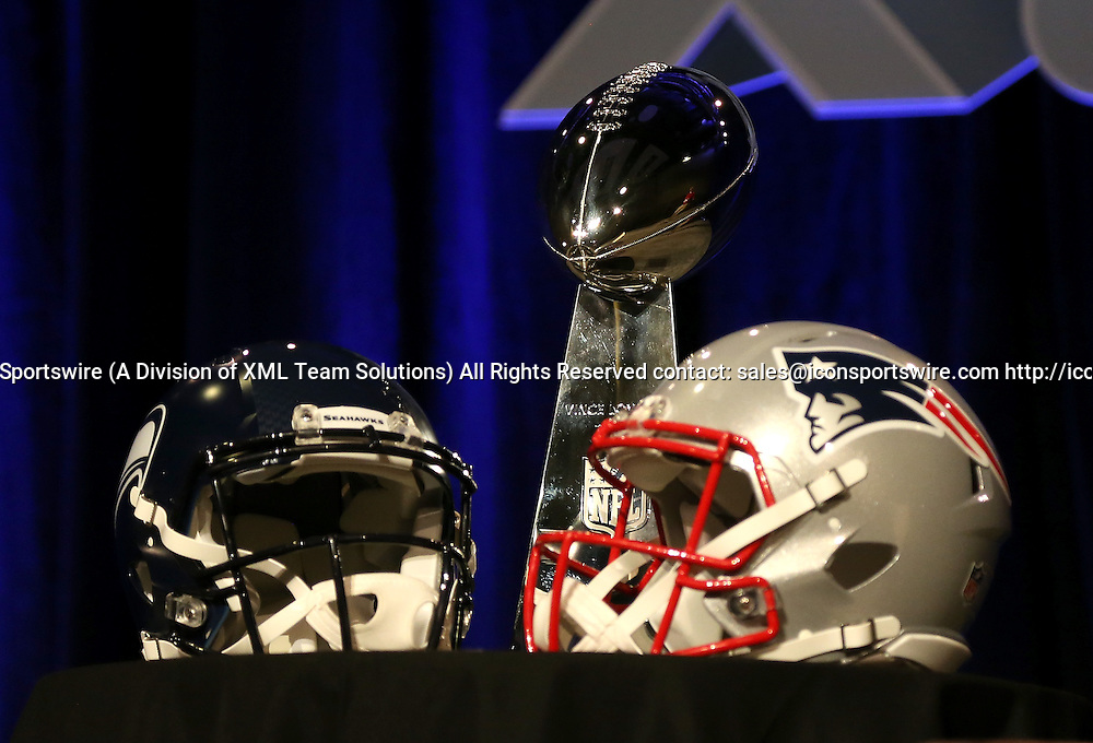 30 January 2015: Close up of the Lombardi Trophy before the Super Bowl XLIX press conference at the Phoenix Convention Center in Phoenix, Az. 30