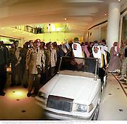 Prince Sultan Bin Abdul Aziz and Prince Bandar Bin Saud.  Riyadh20. Opening of Al Faisaliah and Harvey Nichols.  May 2000.  Riyadh, Saudi  Arabia. © Copyright Photograph by Dafydd Jones 66 Stockwell Park Rd. London SW9 0DA Tel 020 7733 0108 www.dafjones.com