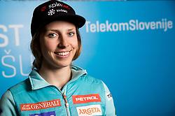 Ana Bucik during press conference of Slovenian Alpine Ski team after the end of the season 2016/17, on March 22, 2017 in Telekom Slovenije, Ljubljana, Slovenia. Photo by Vid Ponikvar / Sportida