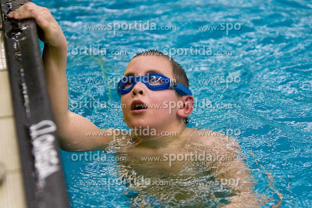 Luka Praprotnik Curic of PK Ilirija at Winter National Swimming championships of Slovenia for U11, on February 7, 2010 in Bazen Tivoli, Ljubljana, Slovenija. (Photo by Vid Ponikvar / Sportida)