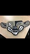 A hyena mask.