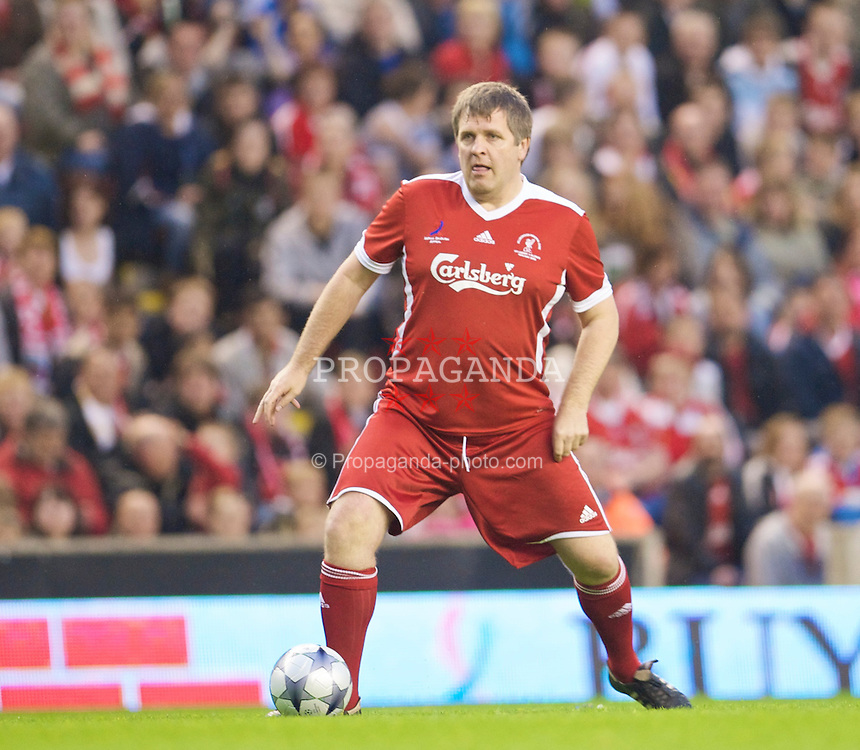 LIVERPOOL, ENGLAND - Thursday, May 14, 2009: Liverpool Legends' Jan Molby during the Hillsborough Memorial Charity Game at Anfield. (Photo by David Rawcliffe/Propaganda)