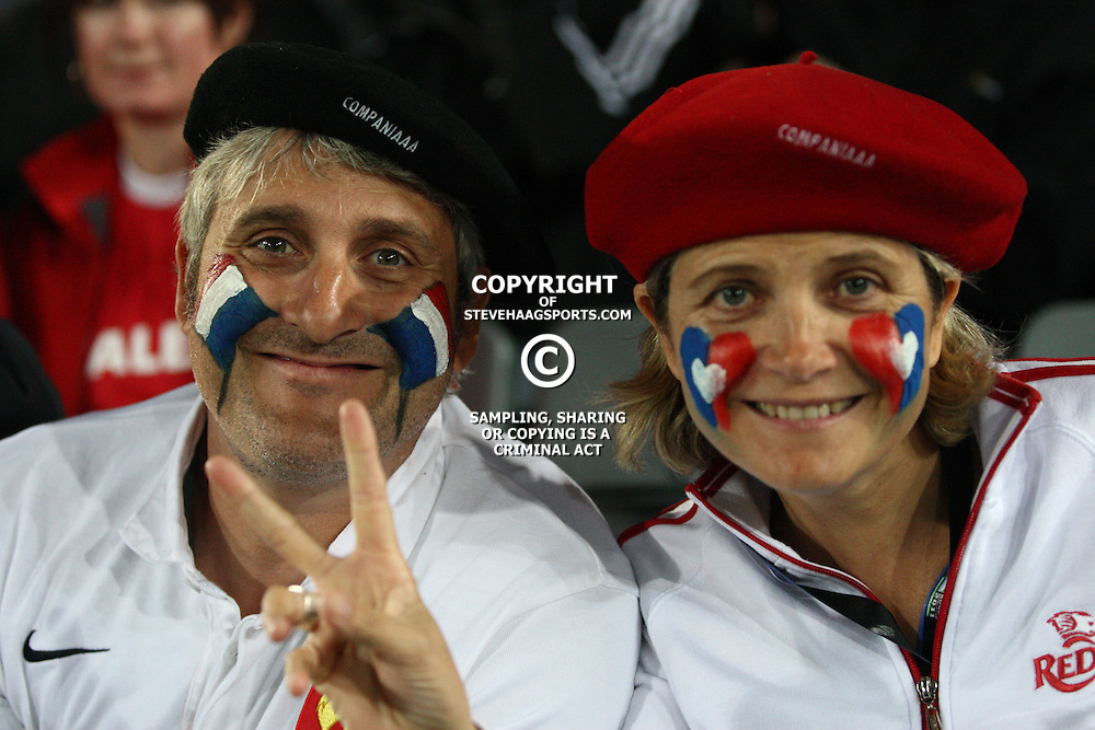AUCKLAND, NEW ZEALAND - OCTOBER 15, French fans during the 2011 IRB Rugby World Cup Semi Final match between Wales and France at Eden Park on October 15, 2011 in Auckland, New Zealand<br /> Photo by Steve Haag / Gallo Images