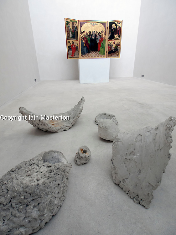 Sculpture The Vessels  of my Body by Heinz Breloh and Holy Spirit Retable at Kolumba Museum in Cologne Germany