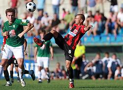 Edin Saranovic (9) of Primorje at 6th Round of PrvaLiga Telekom Slovenije between NK Primorje Ajdovscina vs NK Rudar Velenje, on August 24, 2008, in Town stadium in Ajdovscina. Primorje won the match 3:1. (Photo by Vid Ponikvar / Sportal Images)