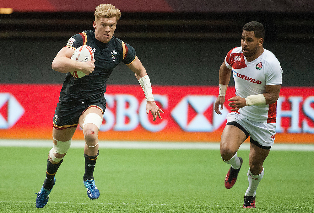 during the knockout stages of the Canada Sevens,  Round Six of the World Rugby HSBC Sevens Series in Vancouver, British Columbia, Sunday March 12, 2017. <br /> <br /> Jack Megaw.<br /> <br /> www.jackmegaw.com<br /> <br /> jack@jackmegaw.com<br /> @jackmegawphoto<br /> [US] +1 610.764.3094<br /> [UK] +44 07481 764811