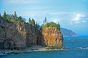 Rocky shoreline off the Bay of Fundy<br /> Cape d'Or<br /> Nova Scotia<br /> Canada