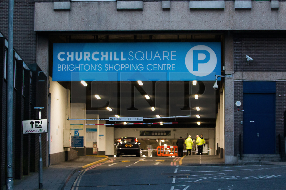 © Licensed to London News Pictures. 11/03/2016. Brighton, UK. The crashed bike is recovered after been abandoned when crashing in the carpark of the Churchill Shopping Centre after a chase through Brighton with speeds up to 100mph. Today March 11th 2016. Photo credit: Hugo Michiels/LNP