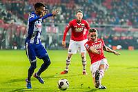 ALKMAAR - 25-01-2017, AZ - sc Heerenveen, AFAS Stadion, SC Heerenveen speler Jeremiah Jerry St Juste, AZ speler Ben Rienstra